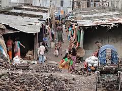La bidonville di Dacca